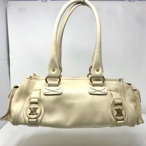 Céline Ivory Calf Boston Bag w/Macadam Hardware